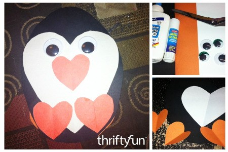 Making a Heart Shaped Paper Penguin