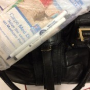 Use Your Own Pen to Stay Healthy - photo of plastic bag with pens and other items kept in handbag in background