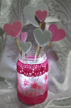 Floating Hearts Valentine's Jar Light