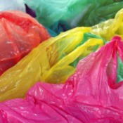 A pile of plastic grocery bags.