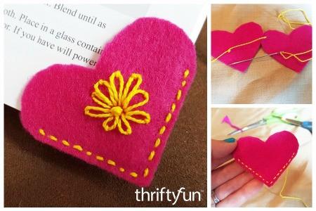 Making a Felt Heart Bookmark
