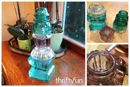 Making a Thriftstore Glass Garden Tower