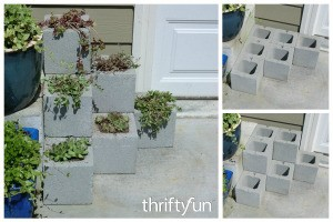 Making a Cinder Block Step Planter