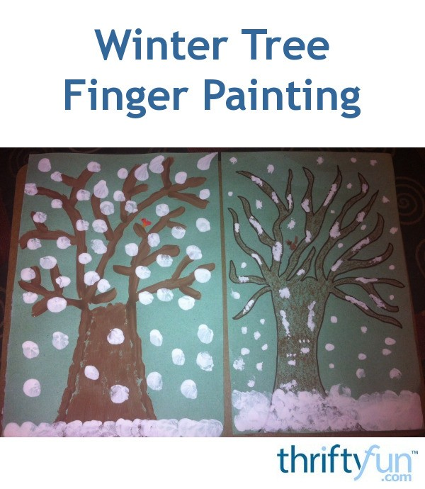 winter tree finger painting winter tree finger painting thriftyfun 5742