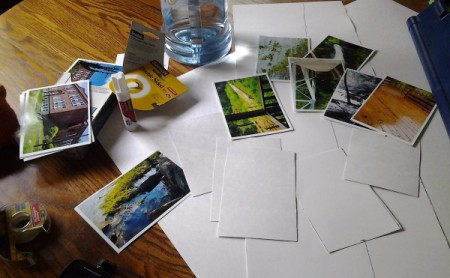 Make Your Own Photo Postcards - choose photos