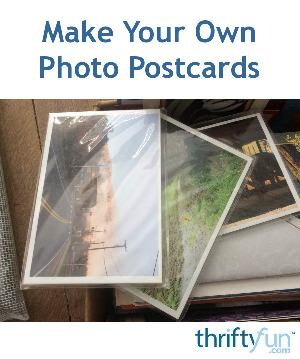 make your own photo postcards thriftyfun. Black Bedroom Furniture Sets. Home Design Ideas