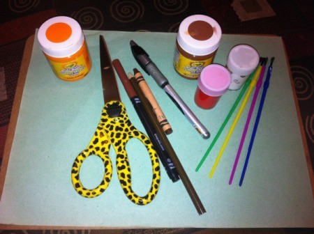 Winter Tree Finger Painting  - supplies