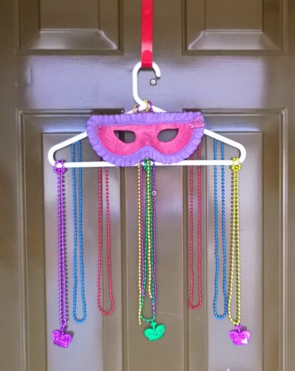 Mardi Gras Mask Door Hanging