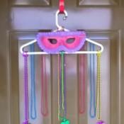 Mardi Gras Mask Door Hanging