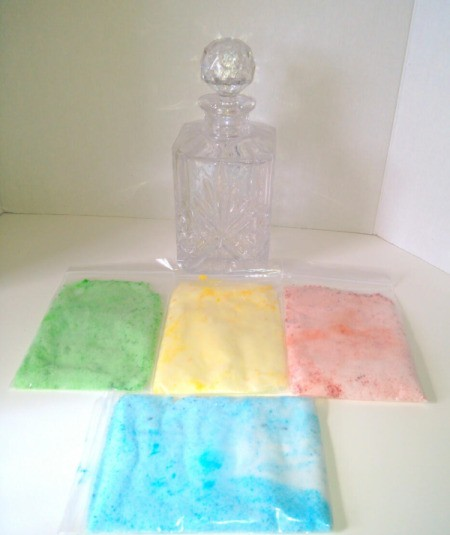 Colored Salt Decor