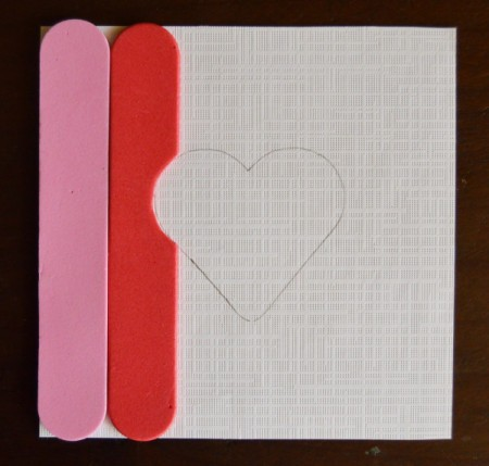 Pure Love Valentine's Day Magnetic Frame - glue on foam sticks alternating red and pink, cut to leave heart shape visible