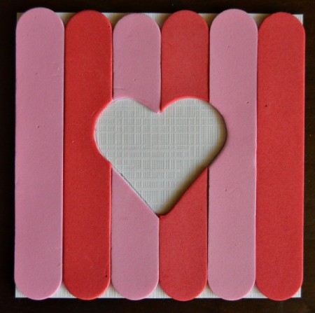 Pure Love Valentine's Day Magnetic Frame - all foam sticks glued on