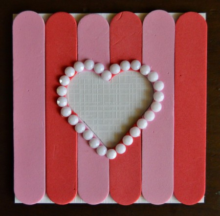Pure Love Valentine's Day Magnetic Frame - glue white rhinestones around the outside of the heart shape