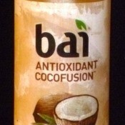 A bottle of Bai flavored water, Molokai Coconut.