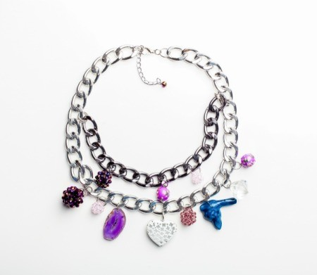 A chain bracelet with a difficult to hook clasp.