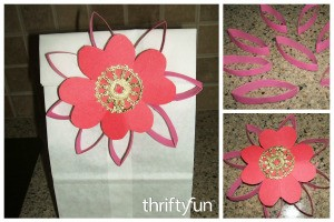 Recycled Tube Valentine Flower Gift Topper