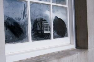 A white window sill.
