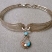Bent Silverware Bracelet