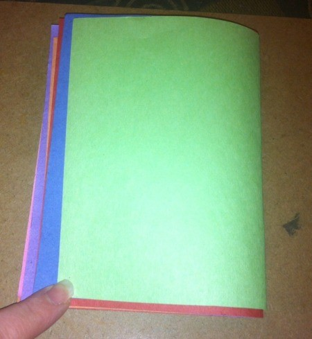 Name Heart Caterpillar - stack of colored construction paper one sheet for each letter of child's name and one for head