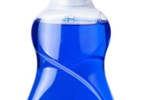 Blue dish soap similar to Dawn.
