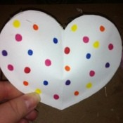 Rice Filled Paper Heart Shakers - finished shaker