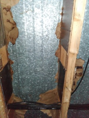 Roof Leaking in Mobile Home - water on wall and wiring