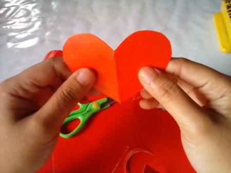 Valentine Bookmark - open up heart