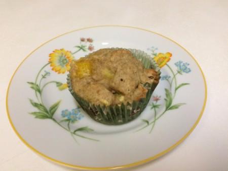 Orange muffin on plate