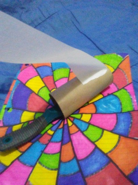 Thrifty Lint Roller Brush - wrapping tape around TP tube