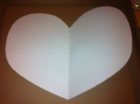 Marble-Painted Heart - cut heart shape from white card stock