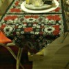 Bandanna Table Runners - red and black bandannas sew into a runner