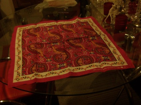 Bandanna Table Runners - red bandanna