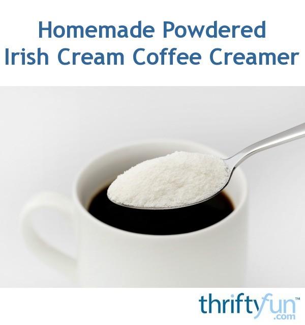 Homemade Powdered Irish Cream Coffee