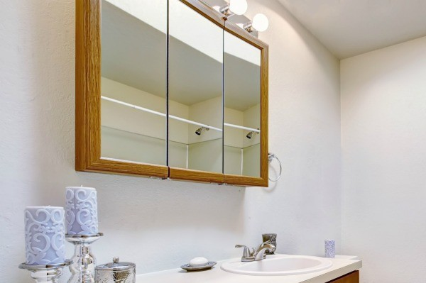 Removing Stains From Cleaner On A Bathroom Mirror