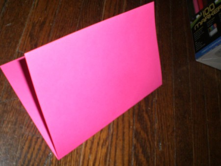 Valentine's Day Banner - fold colored paper in half