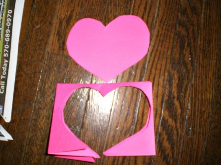 Valentine's Day Banner - cut out heart shape