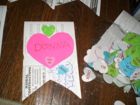 Valentine's Day Banner - write name or message and here you can add smaller hearts