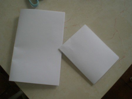 Easy Kids' Valentine Cards - fold in half again to make folded cards