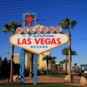 The famous Las Vegas welcome sign.