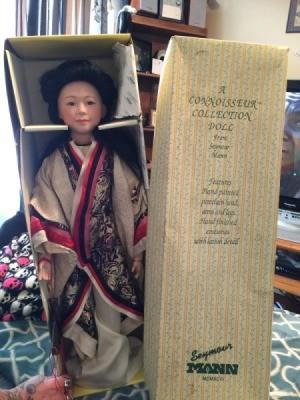 Identifying a Seymour Mann Porcelain Doll - geisha doll in box