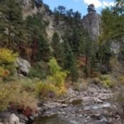 A creek in a mountainous area.