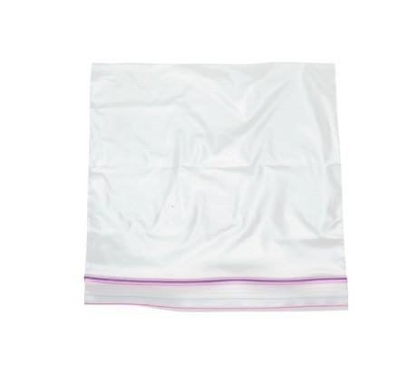An empty ziptop plastic bag