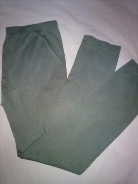 A pair of grey leggings.