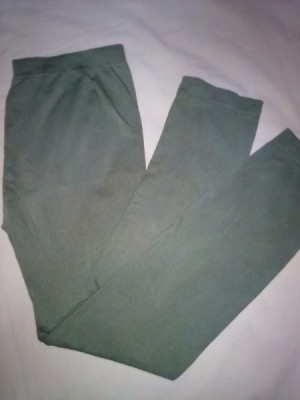 A pair of grey leggings.