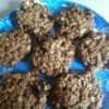 A plate of breakfast cookies made with healthy ingredients.