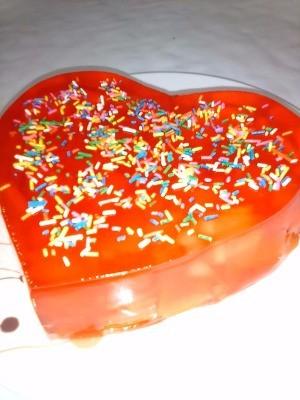 heart shaped Fruity Valentine Gelatin