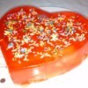 heart shaped Fruity Valentine Gelatin