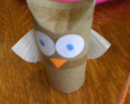 Owl Valentine - paper eyed owl