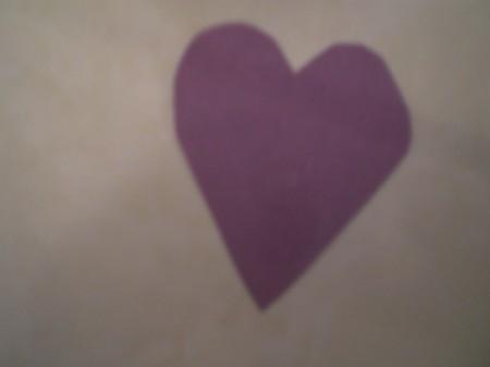 Owl Valentine - purple heart