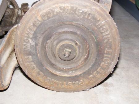 Value of Pastime Rotary Mower - back wheel
